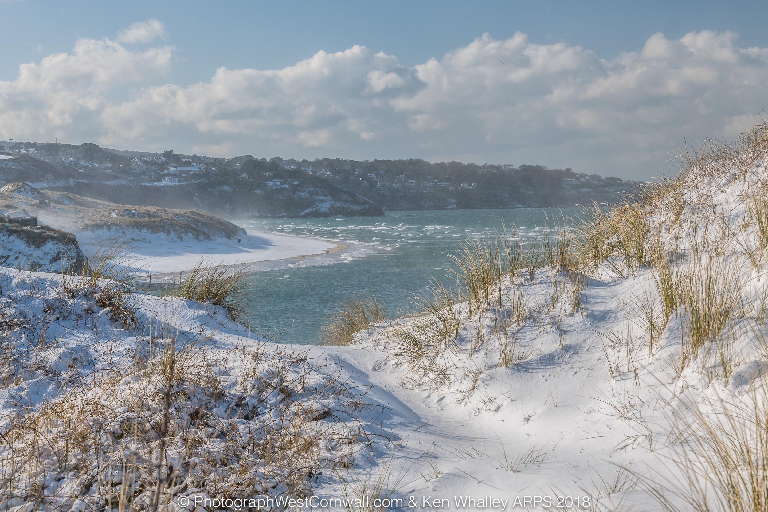 Phantom 4 Pro Drone >> Snow Snow Snow in Hayle - Photograph West Cornwall
